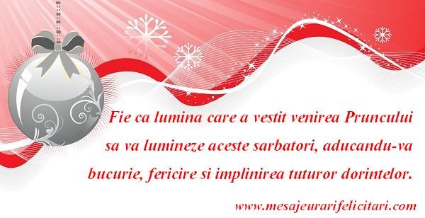 Craciun Fericit si un An Nou plin de bucurii si realizari!