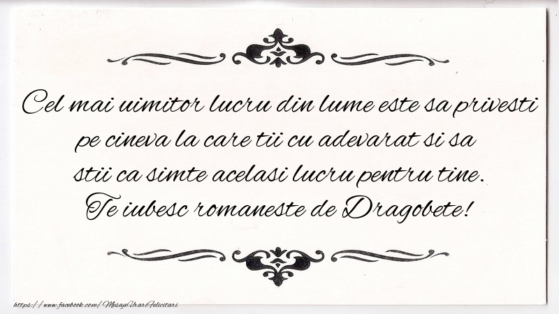 Te iubesc romaneste de Dragobete!