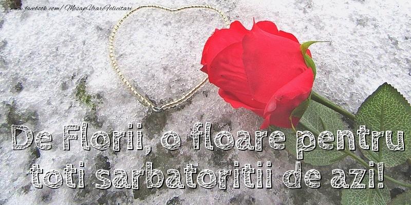 Mesaje de Florii - De Florii, o floare pentru toti - mesajeurarifelicitari.com