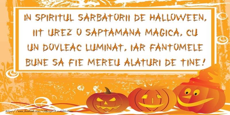 Mesaje de Halloween - In spiritul sarbatorii de Halloween - mesajeurarifelicitari.com