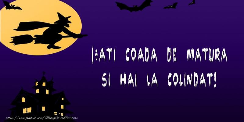 Mesaje de Halloween - I-ati coada de matura si hai la colindat! - mesajeurarifelicitari.com
