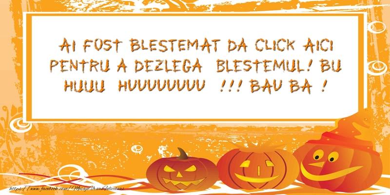 Mesaje de Halloween - Ai fost BLESTEMAT da CLICK AICI pentru a dezlega - mesajeurarifelicitari.com