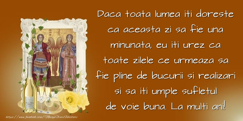 Cele mai frumoase mesaje felicitari de Sfintii Mihail si Gavril