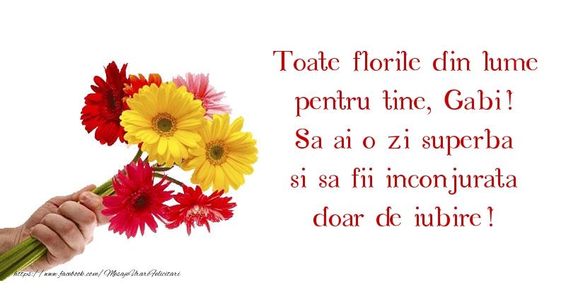 Toate florile din lume pentru tine