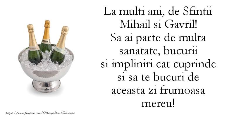 Mesaje de Sfintii Mihail si Gavril - La multi ani, de Sfintii Mihail si Gavril! - mesajeurarifelicitari.com