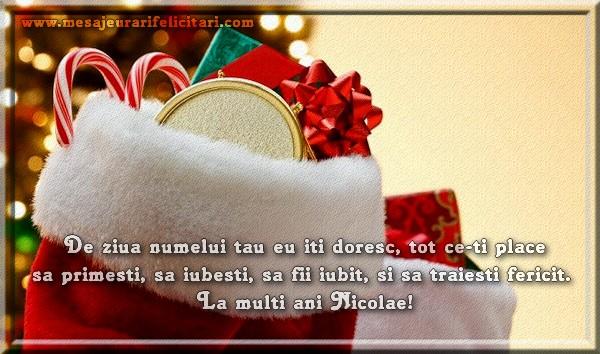 Mesaje de Mos Nicolae - De ziua numelui tau eu iti doresc, tot ce-ti place sa primesti, - mesajeurarifelicitari.com