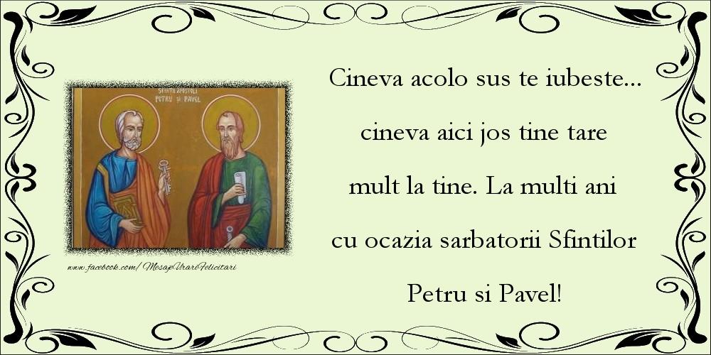 La multi ani cu ocazia sarbatorii Sfintilor Petru si Pavel!
