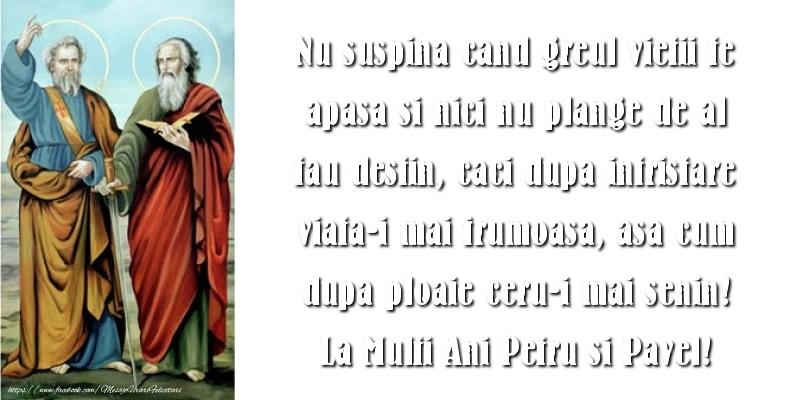 La Multi Ani Petru si Pavel!