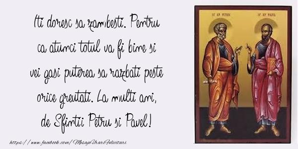 La multi ani, de Sfintii Petru si Pavel!