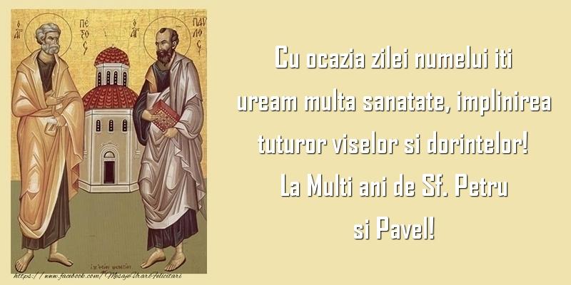 La Multi ani de Sf. Petru si Pavel!