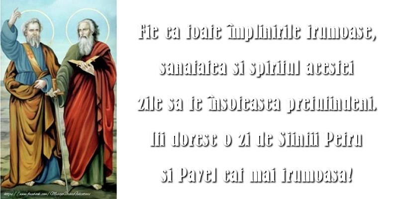 Mesaje de Sfintii Petru si Pavel 2017