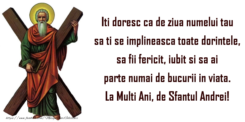 La Multi Ani, de Sfantul Andrei!