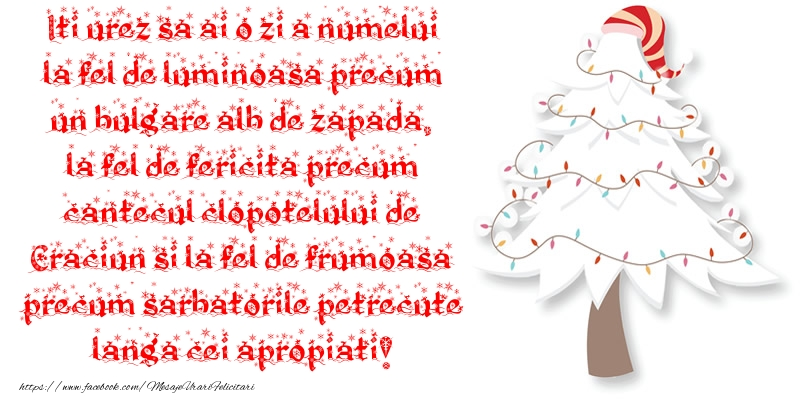 Mesaje de Sfantul Andrei - Iti urez sa ai o zi a numelui la fel de luminoasa precum un bulgare alb de zapada - mesajeurarifelicitari.com