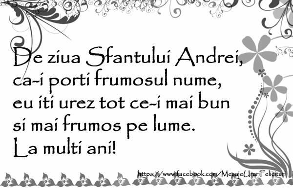 Cele mai frumoase mesaje felicitari de Sfantul Andrei