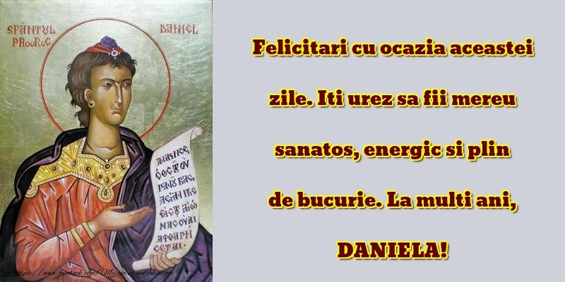 Mesaje de Sfantul Daniel - La multi ani, DANIELA! - mesajeurarifelicitari.com