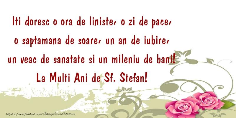 Mesaje de Sfantul Stefan - La Multi Ani de Sf. Stefan! - mesajeurarifelicitari.com