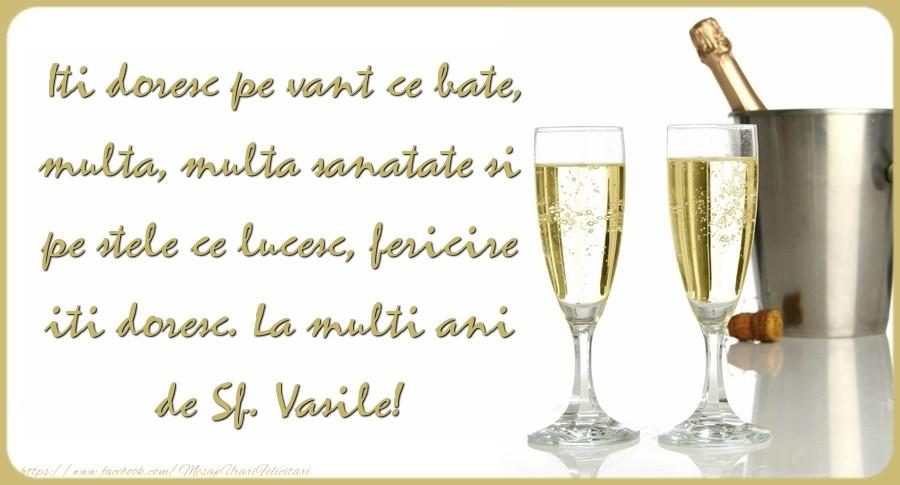 Mesaje de Sfantul Vasile - La multi ani de Sf. Vasile! - mesajeurarifelicitari.com