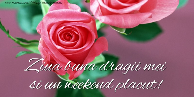 Ziua buna dragii mei si un weekend placut!