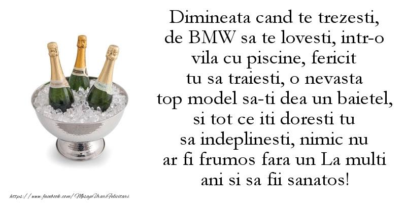 BMW La multi ani si sa fii sanatos