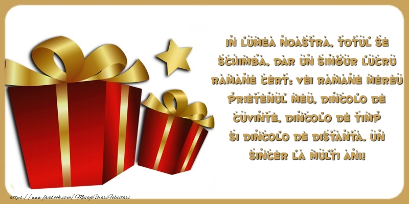 Mesaje de zi de nastere - Un sincer La multi ani! - mesajeurarifelicitari.com