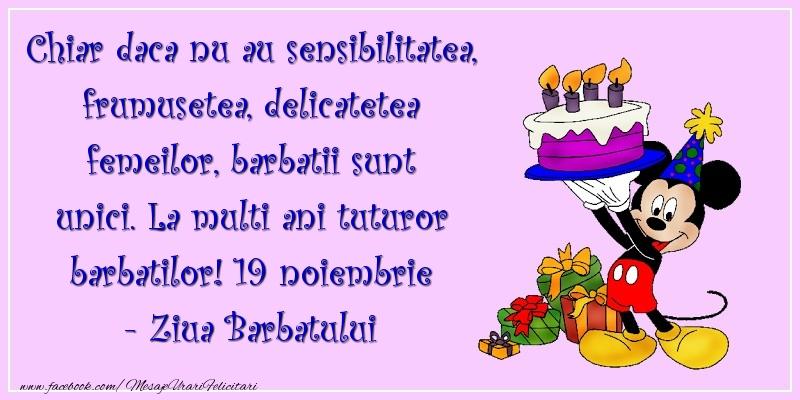 Mesaje de Ziua Barbatului - La multi ani tuturor barbatilor! 19 noiembrie - Ziua Barbatului - mesajeurarifelicitari.com