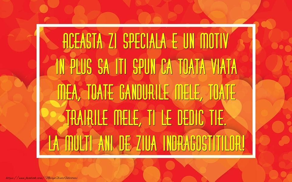 Mesaje Ziua indragostitilor - La multi ani de Ziua Indragostitilor! - mesajeurarifelicitari.com
