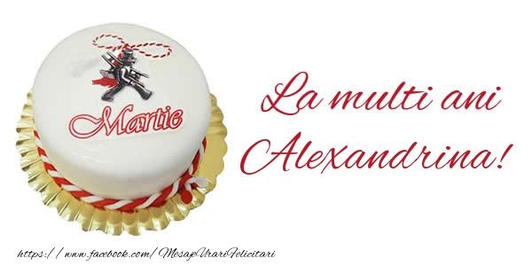 Felicitari de 1 Martie - 1 martie La multi ani  Alexandrina!