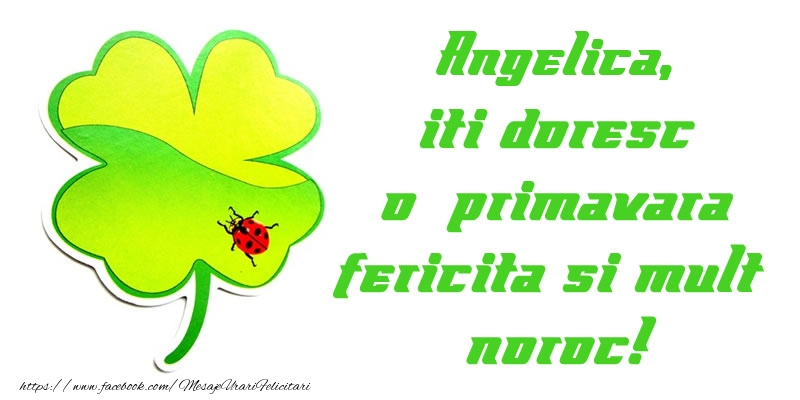 Felicitari de 1 Martie - Angelica iti doresc o primavara fericita si mult noroc!
