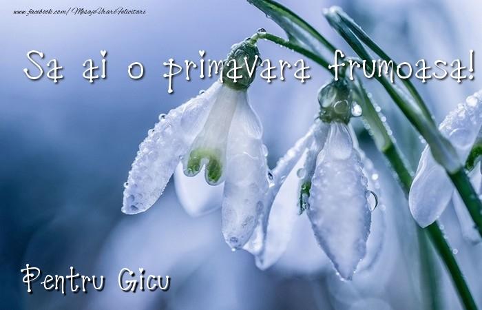 Felicitari de 1 Martie - Va doresc o primavara minunata Gicu