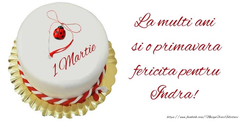 Felicitari de 1 Martie - La multi ani  si o primavara fericita pentru Indra!