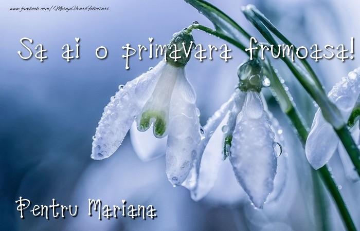 Felicitari de 1 Martie - Va doresc o primavara minunata Mariana