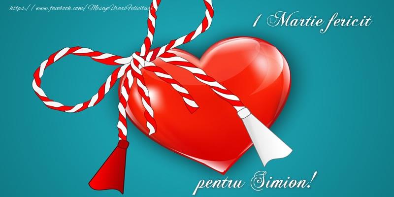 Felicitari de 1 Martie - 1 Martie fericit pentru Simion