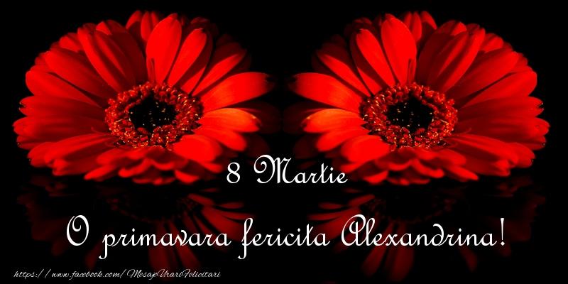 Felicitari de 8 Martie - O primavara fericita Alexandrina!