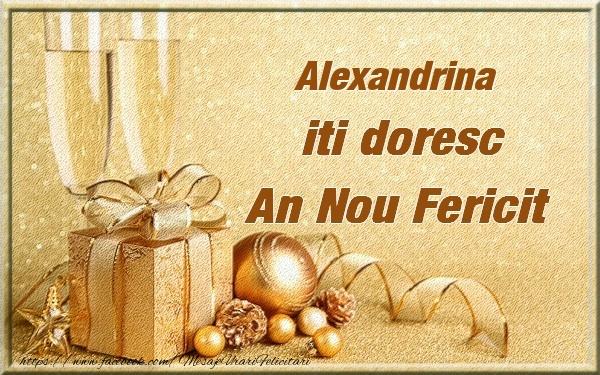 Felicitari de Anul Nou - Alexandrina iti urez un An Nou Fericit