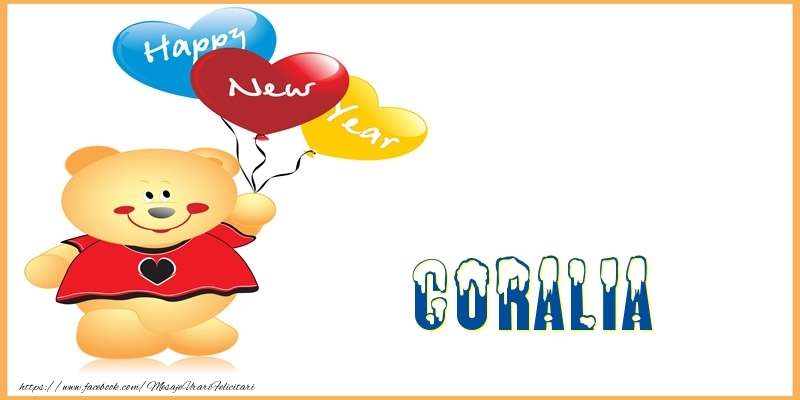 Felicitari de Anul Nou - Happy New Year Coralia!