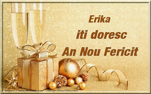 Felicitari de Anul Nou - Erika iti urez un An Nou Fericit