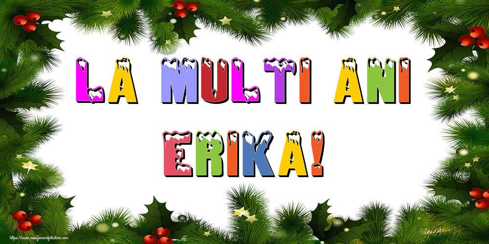 Felicitari de Anul Nou - La multi ani Erika!