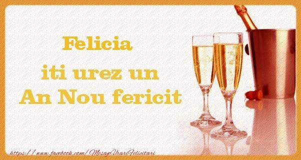 Felicitari de Anul Nou - Felicia iti urez un An Nou fericit