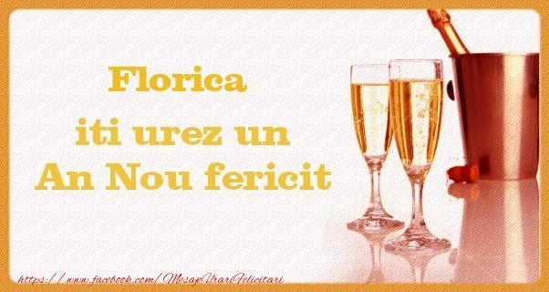 Felicitari de Anul Nou - Florica iti urez un An Nou fericit