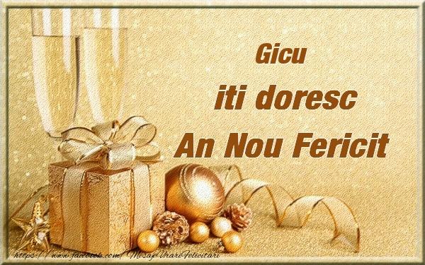 Felicitari de Anul Nou - Gicu iti urez un An Nou Fericit