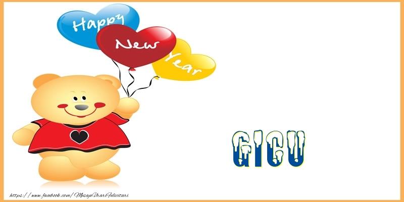 Felicitari de Anul Nou - Happy New Year Gicu!