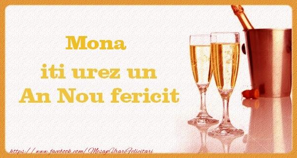 Felicitari de Anul Nou - Mona iti urez un An Nou fericit