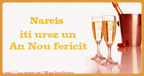 Felicitari de Anul Nou - Narcis iti urez un An Nou fericit