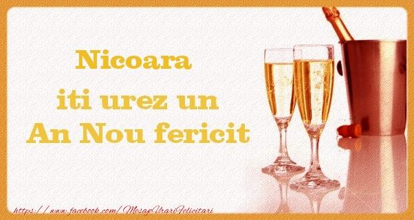 Felicitari de Anul Nou - Nicoara iti urez un An Nou fericit
