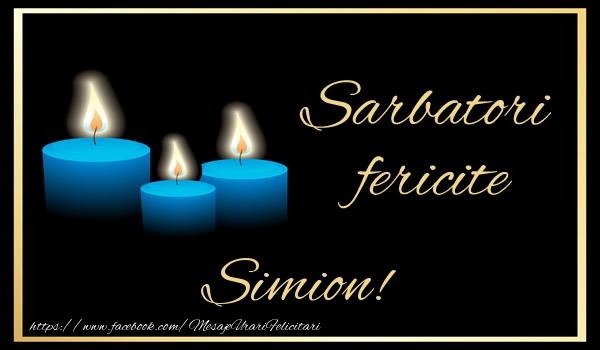 Felicitari de Anul Nou - Sarbatori fericite Simion!