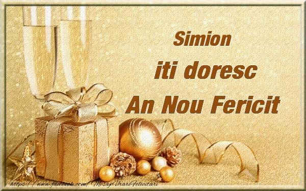 Felicitari de Anul Nou - Simion iti urez un An Nou Fericit