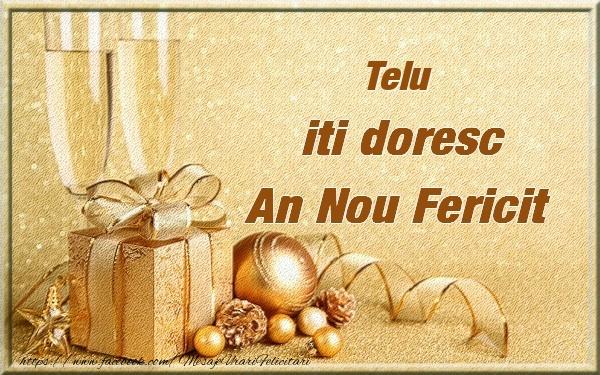 Felicitari de Anul Nou - Telu iti urez un An Nou Fericit