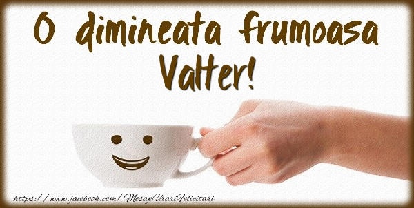 Felicitari de buna dimineata - O dimineata frumoasa Valter!