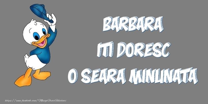 Felicitari de buna seara - Barbara iti doresc o seara minunata