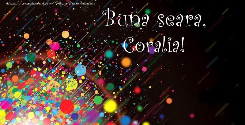 Felicitari de buna seara - Buna seara, Coralia!